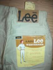 This Is A Vintage 60S Womens 22 X 30 Khaki Tan White Lee Sanforized Riders Deni