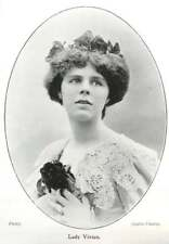 1902 Lady Vivian, Photo Portrait By Lallie Charle