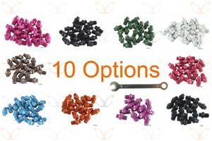 20 eXotic Replacement Anodized Alloy Pedal Pins and Free Pin Spanner, 10 Colours