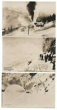 More details for old railway postcards snow clearing bergensbanen norway real photos c.1910