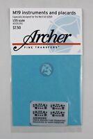 Archer 1/35 M19 Tank Transporter Instruments and Placards (Merit 63501) AR35390