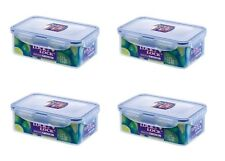 4 x LOCK n LOCK & PLASTIC FOOD STORAGE LUNCH BOX CONTAINER 1L HPL817 1 Litre