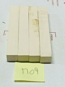 4 PIECES OF HOLLY~EXOTIC WOOD~PEN BLANKS~EXOTIC LUMBER 1709