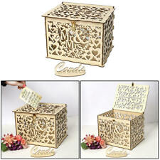 Wedding Card Box Wedding Money Box Holder Wooden Event Decoration Supplies Party