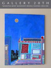 MANHATTAN MOOD! MID CENTURY NY CITYSCAPE ORIG PAINTING! MODERN ART! GALLERY 20TH