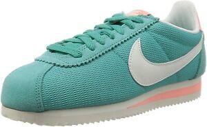 Original Womens Nike Classic Cortez Blue Txt Trainers 844892 310