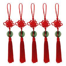 Fashion Feng Shui Chinese Knot Tassel China Mascot Lucky Charm Jade Pendant