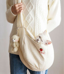 Cat Small Dog Carrier Sling Hands Free Pet Puppy Outdoor Travel Bag Soft