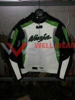 KAWASAKI NINJA  MOTOGP MOTORBIKE LEATHER JACKET ALL SIZE AVAILABLE