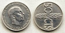 Variante-Estado Español 50 centimos 1966*19-68. MBC+/VF+ Girada segun foto. Rara