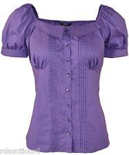 J. Peterman Travel Blouse  (No. 3610)  - new - nwt, Color Purple; Size 12