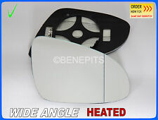 For TOYOTA YARIS, AURIS 2012-18 Wing Mirror Glass Wide Angle HEATED Right /JT071