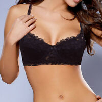 Sheer Lace Push Up Bra Underwire Padded Bras 32 34 36 38 40 42 44 A B C D DD E F