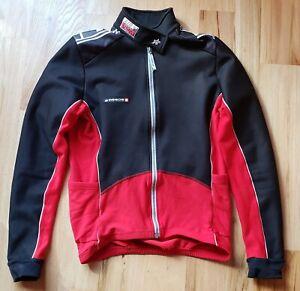 Assos men's Cycling Roubaix jersey jacket Wind Block Prosline L Large Red Black