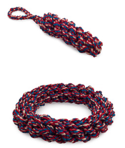 Ancol Made From Rope Dog Toy Ring or Log Recycled Eco Friendly Chase Throw Fetch