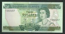 Solomon Islands 1977 2 Dollars P 5 Replacement AU UNC-