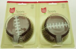 Cake Mate ~ 100 Sports Cupcake Liners ~ Football