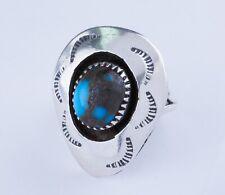 Navajo Vintage .925 Sterling Silver Turquoise Gemstone size 6.5
