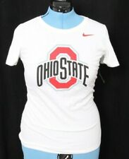 NEW Ohio State University OSU Buckeyes White Nike Fitted Tee Shirt Women's M