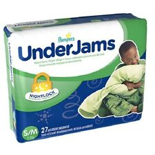 Pampers UnderJams Bedtime Underwear Boys Size S/M (38-65 lbs) Pack of 2