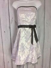 Jessica McClintock For Gunne Sax Dress Size 5/6 Purple Black Prom Evening Flaw
