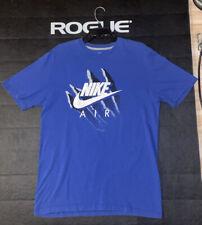 Mens Nike Graphic T-Shirt Blue Black White White L Athletic Sports Clothes Tee