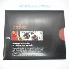 Tudor Instruction Manual Booklet Tag Set NEW NOS GENUINE ORIGINAL