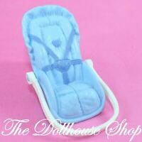 Fisher Price Loving Family Dollhouse Boy Blue Car Seat Baby Carrier Nursery SUV