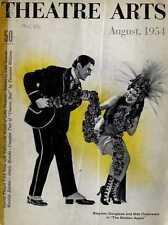THEATRE ARTS MAGAZINE 1954 AUG STEPHEN DOUGLAS, BIBI OSTERWALD, MAUDE ADAMS