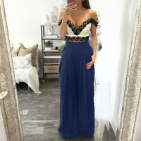 Womens Palazzo Wide Leg Trousers High Waist Long Loose Casual OL Pants Plus Size