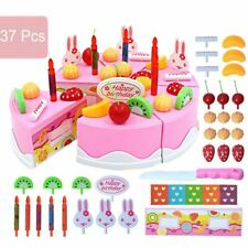 Kids Kitchen Food Toy Birthday Party Cake Set Role Pretend Play Model Cakes Kits