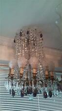 Lovely Large Breathtaking 19Th C French Genuine Amethyst And Crystal Chandelier!