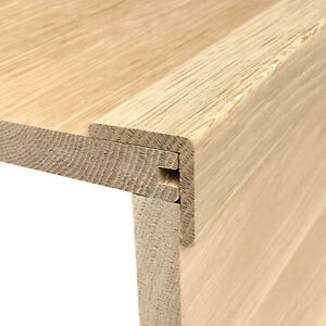 Solid Oak Nosing   Stair Tread L-Nose   20mm x 20mm   Corner Angle Bead   0.9m