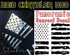 Chrysler 300 Distressed Flag Panoramic Sunroof Decal 2018