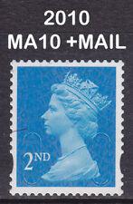 2010 Machin 2nd Class Blue SG U2995 MA10+MAIL DLR CB Very Fine VFU Used Stamp