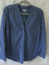 STEVEN ALAN  NYC Designer Chambray blouse top