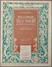 1924 LET IT RAIN James Kendis & Hal Dyson SKY HIGH Theater Musical Sheet Music