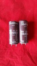 2 PCS 820UF 820mfd 200V Electrolytic Capacitor 105 degrees USA FREE SHIPPING