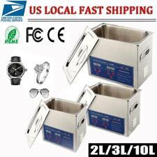 2/3/10L Liter Stainless Steel Digital Heated Industrial Ultrasonic Parts Cleaner