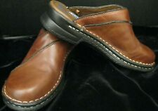 DR SCHOLL'S MARGIE DOUBLE AIR PILLOW SLIDE ON BROWN MULES CLOGS SIZE 6-1/2 NICE!