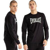 T-shirt da uomo EVERLAST sport manica lunga nero polsino maglia cotone nero logo