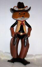 Cowboy Sheriff Fox figurine or statue from Cracker Barrel Western Room Decor