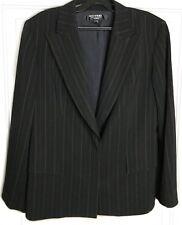 EMANUEL UNGARO Womens Jacket Blazer Size 12p 46 Black Stripe