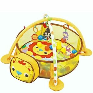 Palestrina Box Tappeto Neonato Bambino Leoncino Fitch Baby con Recinto Palline