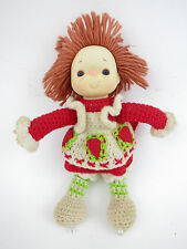 "Strawberry Shortcake 12"" Doll 1980's Toy Kenner Handmade Yarn Knitted 80's"
