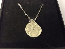 """Old Pocket Watch TG379 Pewter On 18"""" Silver Plated Curb Necklace"""