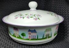 The Lenox Village Collection Porcelain 2 Qt Quart Covered Casserole Dish W/ Lid