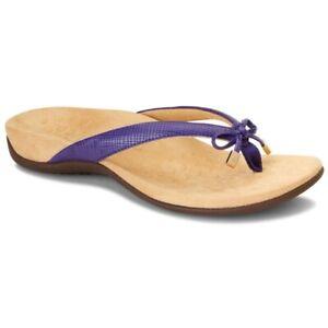 Vionic Womens Rest Bella II Lizard Flip Flop Sandals Purple Slip Ons 9 New