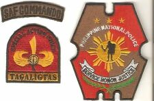 Philippines National Police PNP Special Action Force SAF Commando Patch & Tab