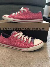 Girls Converse Size 3 Pink And Purple